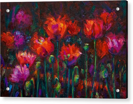Acrylic Print featuring the painting Up From The Ashes by Talya Johnson