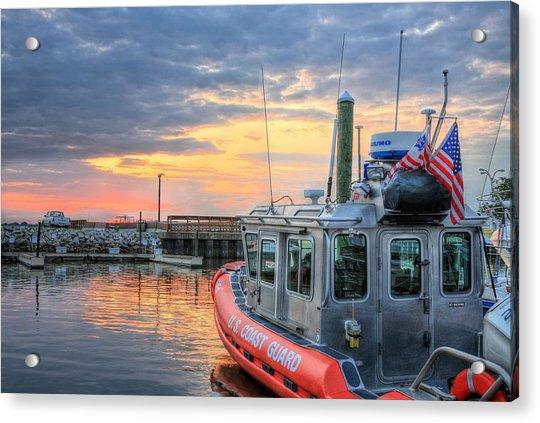 Us Coast Guard Defender Class Boat Acrylic Print