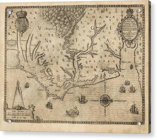 Us Colony Of Virginia Acrylic Print