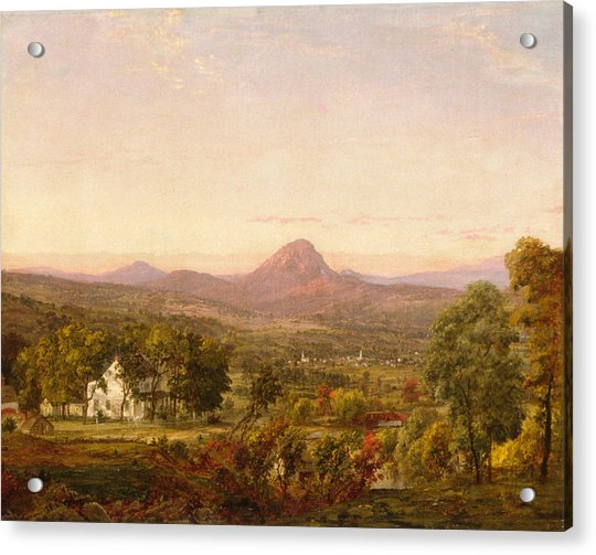 Autumn Landscape Sugar Loaf Mountain. Orange County  New York Acrylic Print
