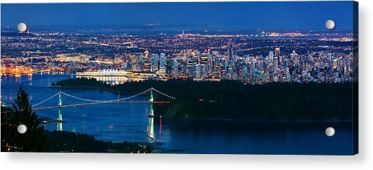 Vancouver From Cypress Mountain Acrylic Print