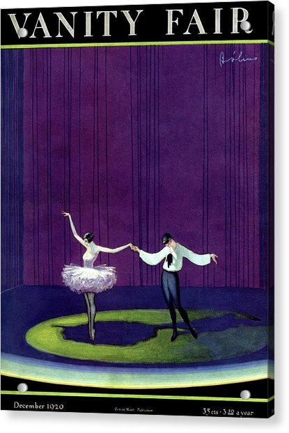 Vanity Fair Cover Featuring A Masked Male Dancer Acrylic Print