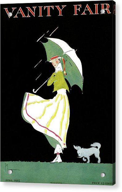 Vanity Fair Cover Featuring A Woman Standing Acrylic Print by Ethel Plummer
