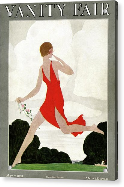 Vanity Fair Cover Featuring A Young Woman Acrylic Print