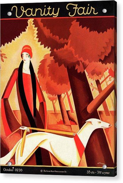 Vanity Fair Cover Featuring An Elegant Woman Acrylic Print