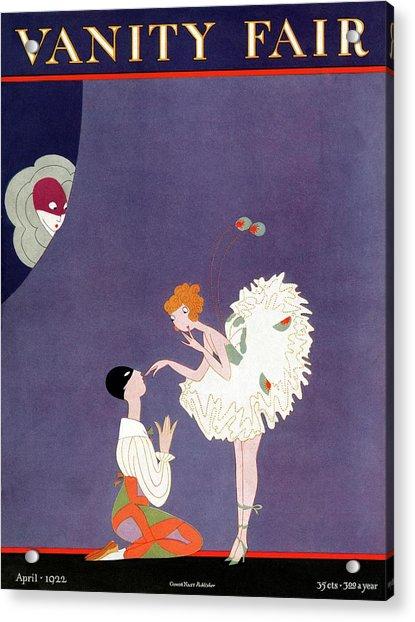 Vanity Fair Cover Featuring Dancers Flirting Acrylic Print