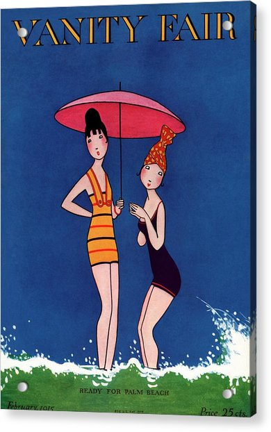 Vanity Fair Cover Featuring Two Women Standing Acrylic Print