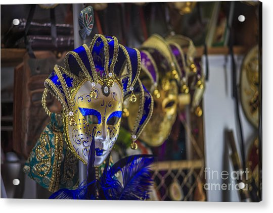 Venetian Carnival Masks Cadiz Spain Acrylic Print