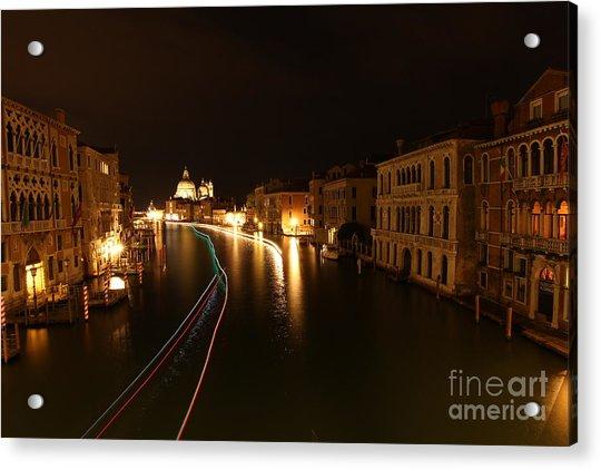 Venice By Night Acrylic Print