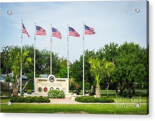 Veterans Memorial Laguna Vista Texas Acrylic Print