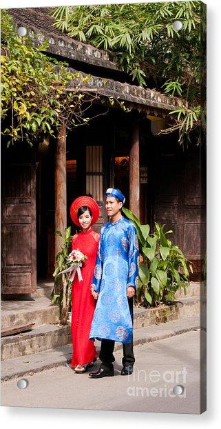 Vietnamese Wedding Couple 01 Acrylic Print