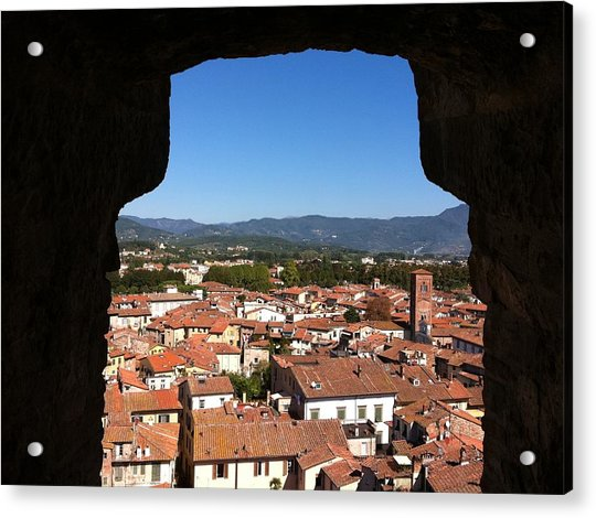 View From A Tower Window In Lucca Acrylic Print