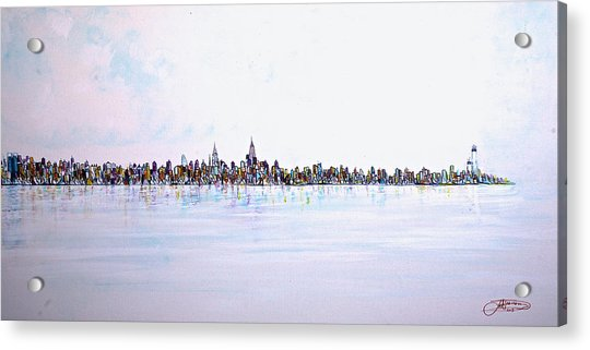 View From The Hudson Acrylic Print