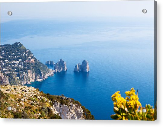 View Of Amalfi Coast Acrylic Print by Susan Schmitz