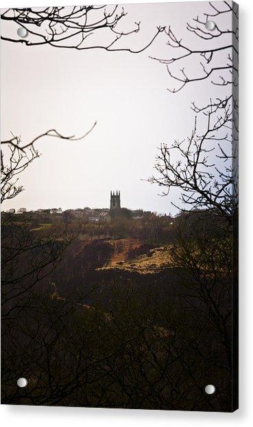 View Of Heptonstall Church Acrylic Print