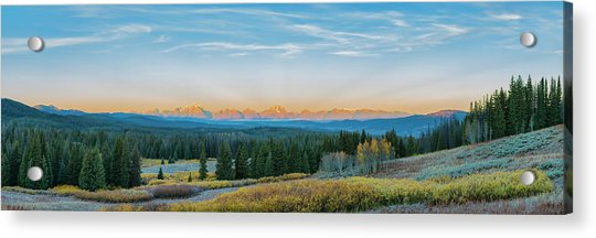 View Of The Grand Teton Mountains Acrylic Print by Richard and Susan Day