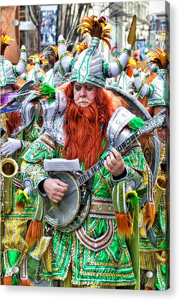 Acrylic Print featuring the photograph Viking Mummer by Alice Gipson