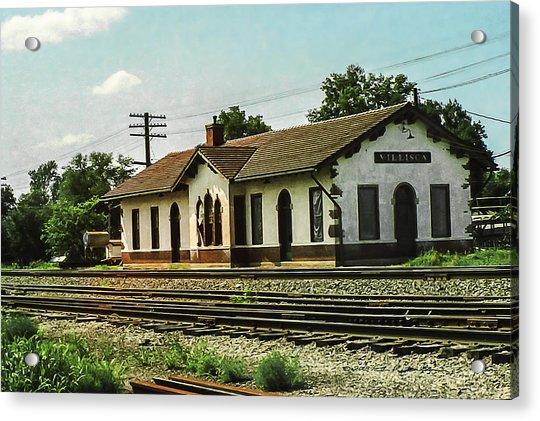 Villisca Train Depot Acrylic Print