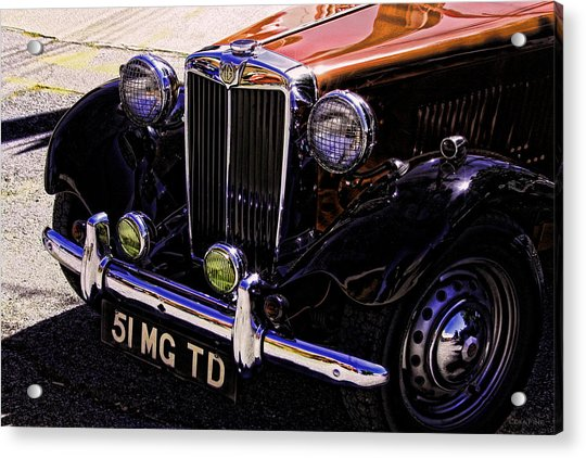 Vintage Car Art 51 Mg Td Copper Acrylic Print
