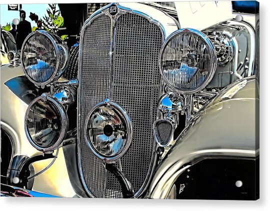 Vintage Car Art Buick Grill And Headlight Hdr Acrylic Print