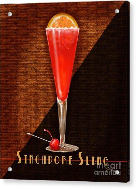 Vintage Cocktails-singapore Sling Acrylic Print