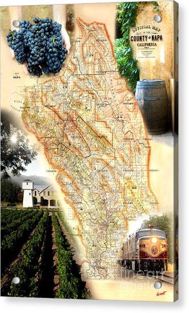 Vintage Napa Valley Map Acrylic Print