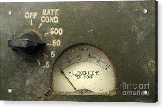 Vintage Radiation Meter Acrylic Print