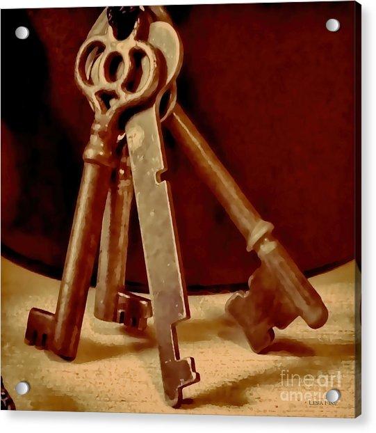Vintage Skeleton Keys I Acrylic Print