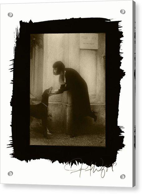 Vintage Woman With Dog Acrylic Print