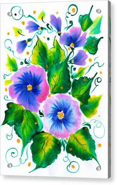 Violet Flowers Acrylic Print