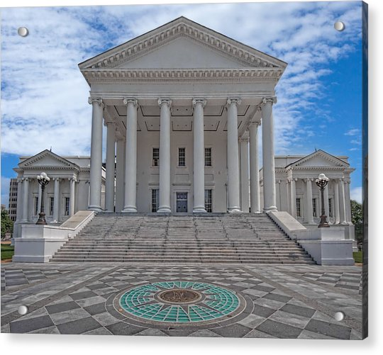 Acrylic Print featuring the photograph Virginia Capitol by Jemmy Archer