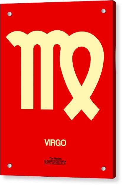 Virgo Zodiac Sign Yellow Acrylic Print