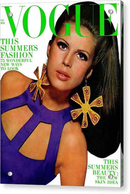 Vogue Cover Featuring Birgitta Af Klercker Acrylic Print
