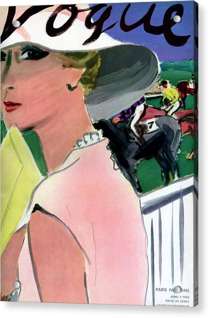 Vogue Cover Illustration Of A Woman Acrylic Print
