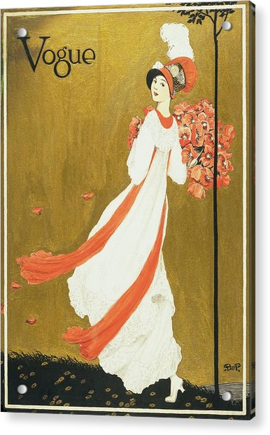 Vogue Cover Illustration Of A Woman Carrying Acrylic Print