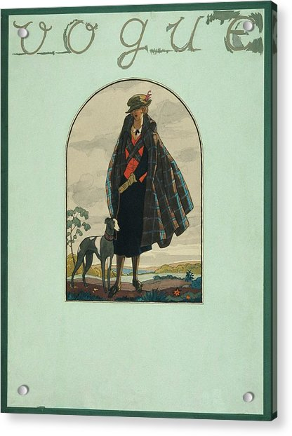 Vogue Cover Illustration Of A Woman Standing Acrylic Print