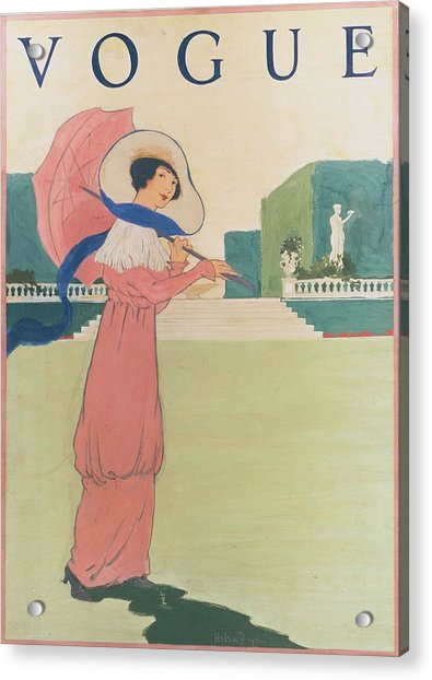Vogue Cover Illustration Of A Woman Wearing Acrylic Print