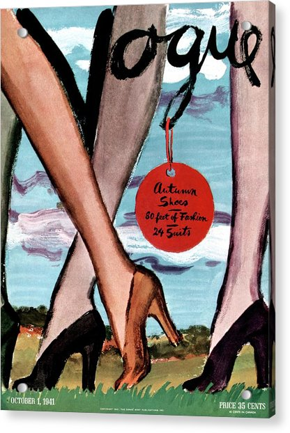 Vogue Cover Illustration Of Female Legs Wearing Acrylic Print