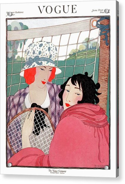 Vogue Cover Illustration Of Two Women In Front Acrylic Print