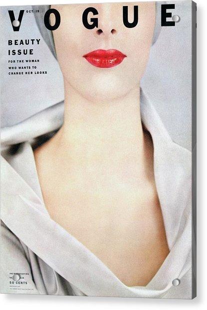 Vogue Cover Of Victoria Von Hagen Acrylic Print