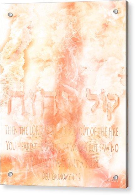 Voice Of Fire Acrylic Print