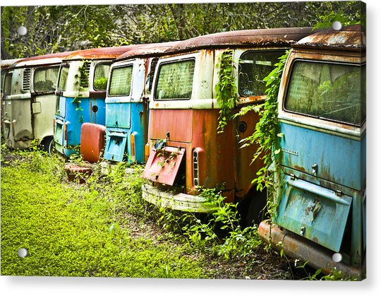 Acrylic Print featuring the photograph Vw Buses by Carolyn Marshall