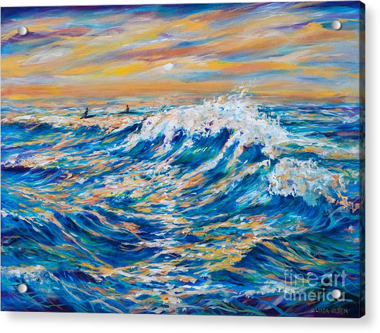 Waiting For The Last Wave Acrylic Print
