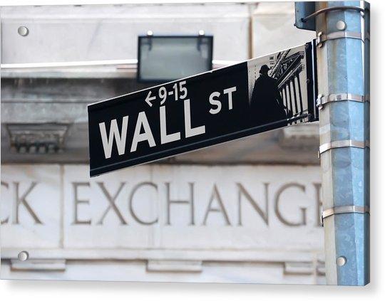 Wall Street New York Stock Exchange Acrylic Print