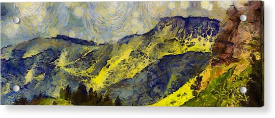 Wasatch Range Spring Colors Acrylic Print
