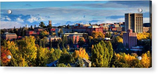Washington State University In Autumn Acrylic Print