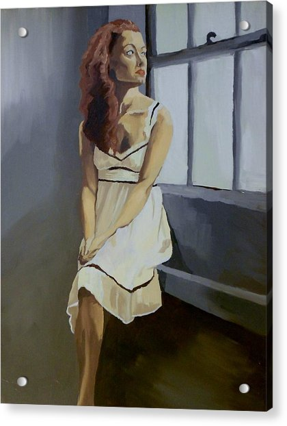 Watching Acrylic Print by Stephen Panoushek