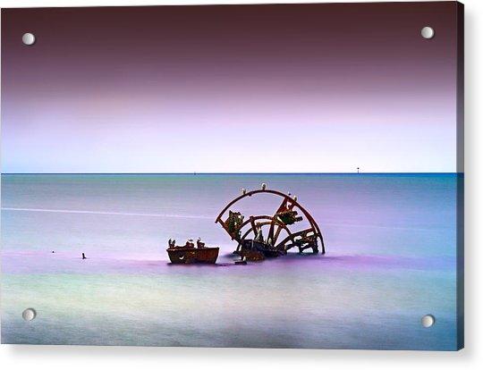 Watery Desert Acrylic Print