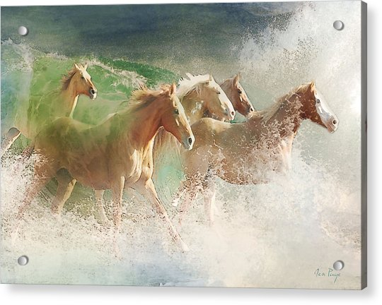 Waves Of God's Glory Acrylic Print