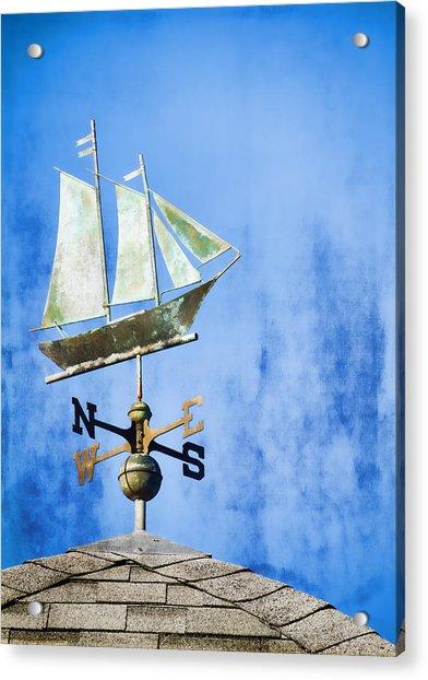 Weathervane Clipper Ship Acrylic Print